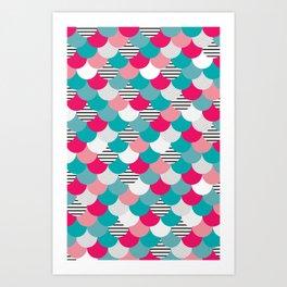 Scale Pattern Art Print