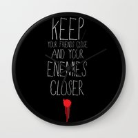 the godfather Wall Clocks featuring GODFATHER QUOTE by Bianca Lopomo