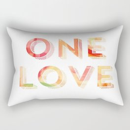 One Love Reggae Tropical Print Rectangular Pillow