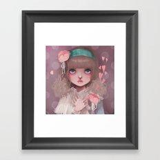 Le coeur en liesse... Framed Art Print
