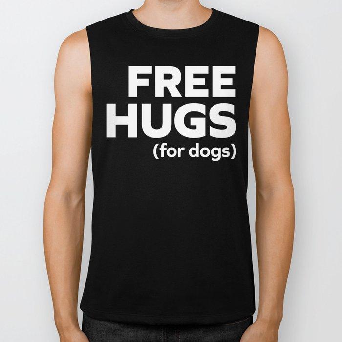 Free Hugs Dogs Funny Quote Biker Tank