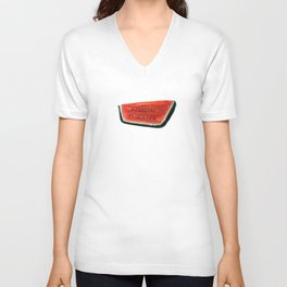 Fan's illustration - Watermelon ceramic in Taormina Sicilia Unisex V-Neck