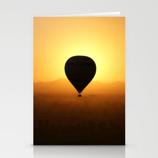 Balloon Over Valley of the Kings Stationery Cards