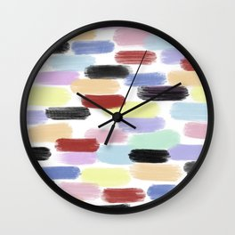 Pretty Primaries Wall Clock