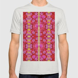 Roses and butterflies on ribbons as a gift of love T-shirt