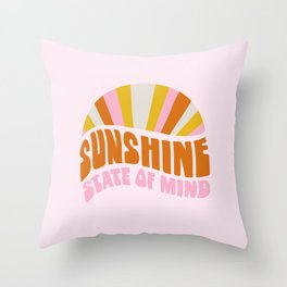 sunshine state of mind, type Throw Pillow