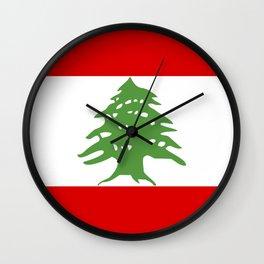 lebanon country flag tree Wall Clock