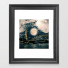 One Starry Night in Paris Framed Art Print