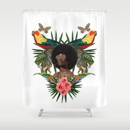 BlackGirlsWithPlants Shower Curtain