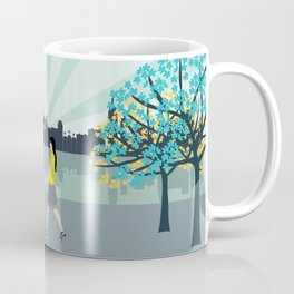 New York City Brooklyn Bridge Art Print Coffee Mug