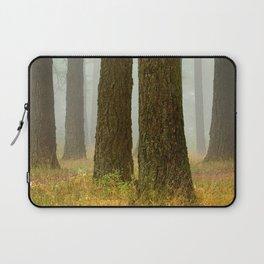 Trees in Fog Laptop Sleeve