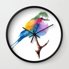 The Lilac-breasted Roller Wall Clock