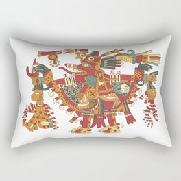Aztec Inca God Graphic Rectangular Pillow