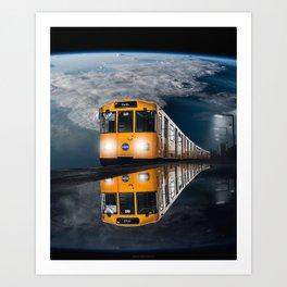 Nasa Train Manipulation Art Print