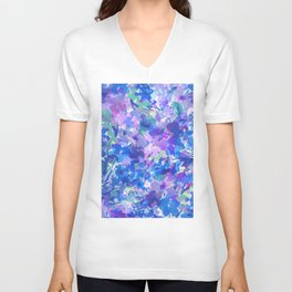 Spring Blues Unisex V-Neck