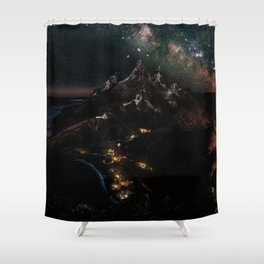 Velaris, City of Starlight, Night Court, A Court of Thorns and Roses Shower Curtain