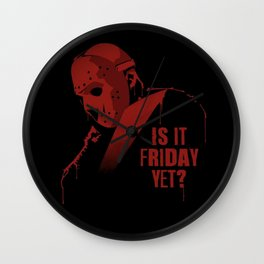 Is it Friday Wall Clock