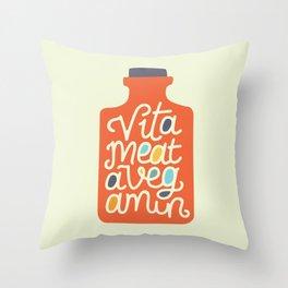 Vitameatavegamin Throw Pillow