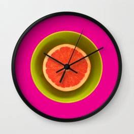 Still life with grapefruit Wall Clock