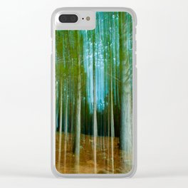 Listening to the Silence Clear iPhone Case