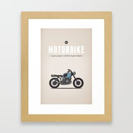 Motorbike Quote Framed Art Print