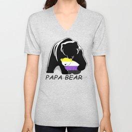 Papa Bear Nonbianary Unisex V-Neck