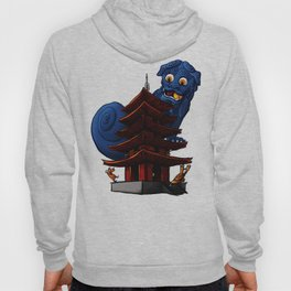 a Dog a Panic in a Pagoda Hoody