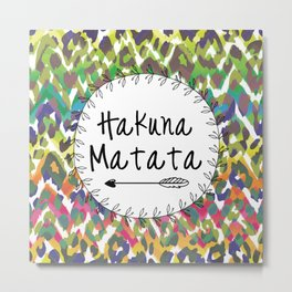 Hakuna Matata / No Worries Print Decor Metal Print