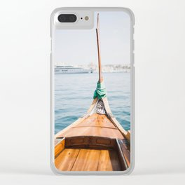 Boat from Valletta Clear iPhone Case