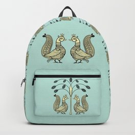 Ethic Art Indian Ducks with tree Backpack