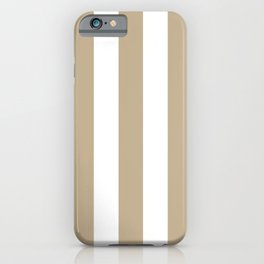 Khaki (HTML/CSS) (Khaki) grey - solid color - white vertical lines pattern iPhone Case