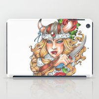 viking iPad Cases featuring Viking by Little Lost Forest