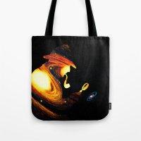 sherlock holmes Tote Bags featuring Sherlock Holmes  by nicebleed