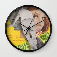 bon iver Wall Clocks featuring Bon Iver by Josh LaFayette