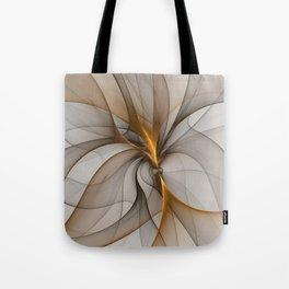 Elegant Chaos, Abstract Fractal Art Tote Bag