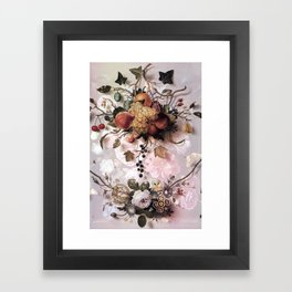 Victorian flowers and fruits Framed Art Print