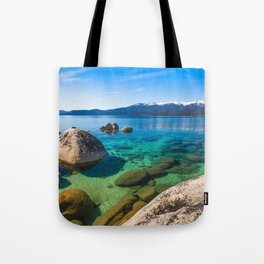 Let's Jump In At Sand Harbor, Lake Tahoe Tote Bag