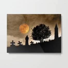 The old graveyard Metal Print