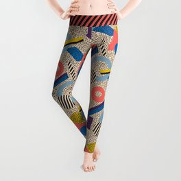 Memphis Inspired Pattern 3 Leggings