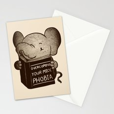 Elephant Overcoming Your Mice Phobia Stationery Cards