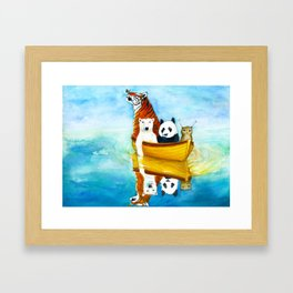 Herbert at Sea Framed Art Print