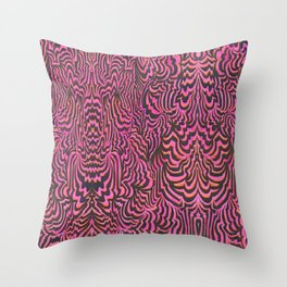 The Space In Between Charnia and Labrynthodonts III (pink) Throw Pillow