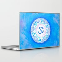 ohm Laptop & iPad Skins featuring Ohm / Om 2 by HollyJonesEcu