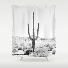 Cactus BW Shower Curtain