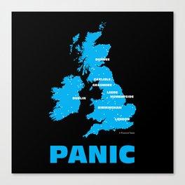Panic Canvas Print