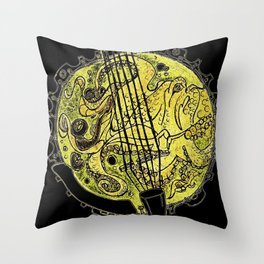 Octo Banjo Throw Pillow