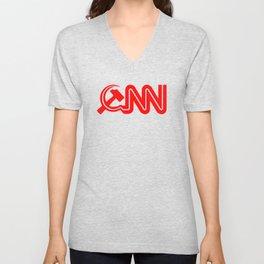 Communist News Network Unisex V-Neck