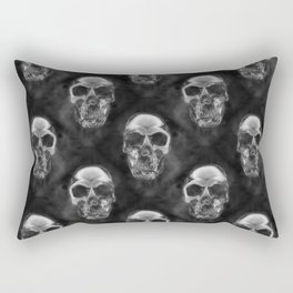 Human Skull Pattern Rectangular Pillow