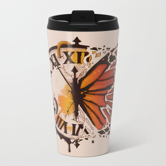 A Ruptured Time Metal Travel Mug