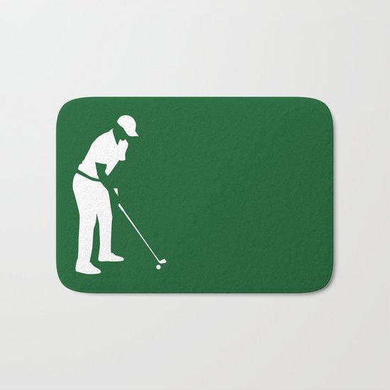 Golf player Bath Mat
